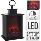 LANTERN FIREPLACE | LED | 24 CM | TIMER | BATTERY OPERATED